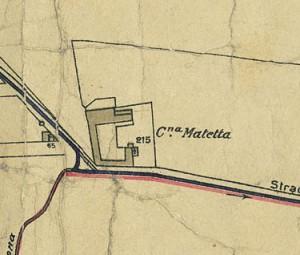 Cascina Maletta. Pianta di Torino, 1935. © Archivio Storico della Città di Torino