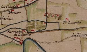 Tetti Lucento. Carta delle Regie Cacce, 1816, ©Archivio di Stato di Torino