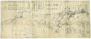 Canale Ceronda. Planimetria, in Progetto di canale per condurre in Torino le acque del torrente omonimo ad uso di forza motrice, 1752-1887. © Archivio Storico della Città di Torino