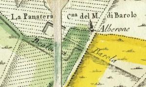 Cascina Panatera. Amedeo Grossi, Carta Corografica dimostrativa del territorio della Città di Torino, 1791, © Archivio Storico della Città di Torino