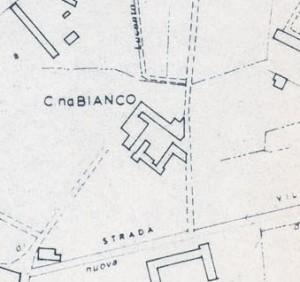 Cascina Bianco nel quartiere Vallette. Istituto Geografico Militare, Pianta di Torino, 1974. © Archivio Storico della Città di Torino