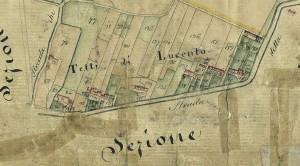 Tetti Lucento.Catasto Gatti, 1820-1830. © Archivio Storico della Città di Torino
