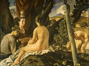 Felice Carena, La quiete, 1922-1924, olio su tela. Roma, Collezione Banca d'Italia
