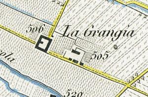 Cascina La Grangia, Grange. Antonio Rabbini , Topografia della Città e Territorio di Torino, 1840. © Archivio Storico della Città di Torino
