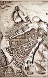 Ercole Negro di Sanfront. Rilievo di Marsiglia, durante la campagna di Provenza, 1591. © Archivio di Stato di Torino.