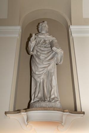 Regia Farmacia Masino, statua di san Damiano, 2016 © Archivio Storico della Città di Torino