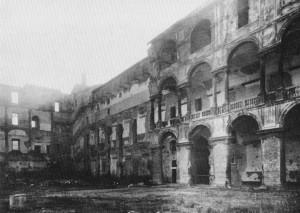 L'Accademia dopo i bombardamenti del 1946 (da Palmas, 1989).