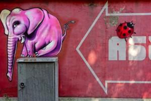 Associazione Artefatti, murale senza titolo, 2010, asilo Durio