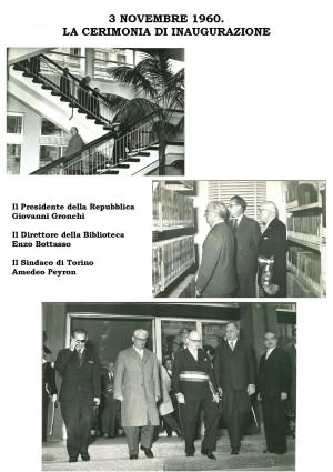 3 novembre 1960: cerimonia di inaugurazione della nuova sede della Biblioteca civica