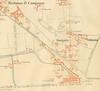 Planimetria della vecchia barriera di Lanzo (a sinistra oltre la ferrovia rispetto borgo Vittoria) nel 1892, particolare. © Archivio Storico della Città di Torino