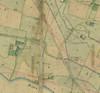 Mappa catastale degli anni Trenta dell'Ottocento del territorio su cui sorgerà la vecchia barriera di Lanzo,particolare. © Archivio Storico della Città di Torino