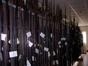 Collezione di armi d'asta. Fotografia di Silvia Bertelli
