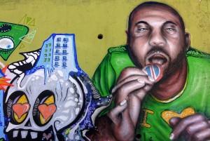 Artisti vari, murales senza titolo, Festival PicTurin 2010, muri del cavalcavia di corso Bramante. Fotografia di Roberto Cortese, 2017 © Archivio Storico della Città di Torino
