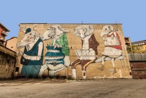Ericailcane, murale senza titolo, 2010, via Fiochetto 15