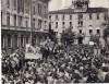 Celebrazione del I maggio davanti alla Camera del Lavoro. ASCT, Fondo Gazzetta del Popolo I 1369B. © Archivio Storico della Città di Torino