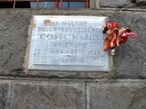 Lapide dedicata a Costa Mario (1908 - 1944)