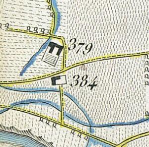 Cascina Bianco nel quartiere Vallette. Topografia della Città e territorio di Torino, 1840. © Archivio Storico della Città di Torino