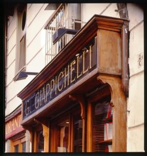 Giappichelli, libreria-casa editrice, particolare, 2000 © Regione Piemonte