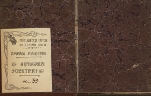 Quaderno manoscritto n. 39, Fondo Amedeo Avogadro. Biblioteca civica Centrale © Biblioteche civiche torinesi