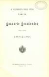 «Annuario accademico», A. IX, a.a. 1884-1885, Torino, copertina