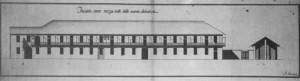 Antonio Felice Devincenti, Progetto per il nuovo prospetto della raffineria del salnitro, ca. 1772 (Archivio di Stato di Torino, Torino non inventariata).