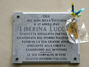 Lapide in memoria della partigiana Liberina Lucca. Fotografia di Paola Boccalatte, 2013. © MuseoTorino