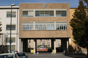 L'ingresso principale dello stabilimento. Fotografia di Giuseppe Beraudo, 2009