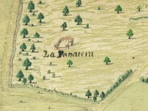 Cascina Panatera. Carta Tipografica della Campagna, 1685. © Archivio Storico della Città di Torino