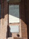 Lapidi in memoria di Antonio Voglino e dei martiri del 12 ottobre 1944 in piazza Statuto. Fotografia di Paola Boccalatte, 2013. © MuseoTorino