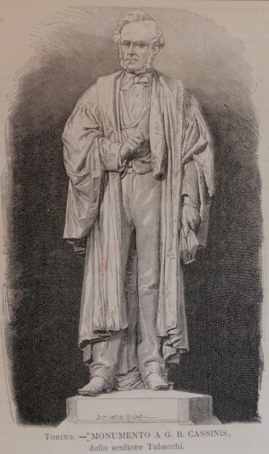 Odoardo Tabacchi, Monumento a Giovanni Battista Cassinis, 1873. Litografia da