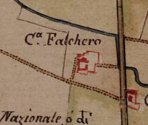 Cascina Falchera. Carta delle Regie Cacce, 1816.© Archivio di Stato di Torino
