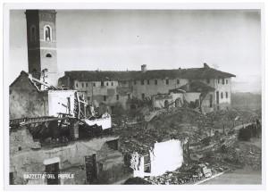 Chiesa Madonna di Campagna, Via Cardinale Massaia 98. Effetti prodotti dai bombardamenti dell'incursione aerea dell'8-9 dicembre 1942. UPA 2814D_9D01-18. © Archivio Storico della Città di Torino