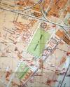 Localizzazione della caserma in una mappa di Torino del 1925 (CeSRAMP).