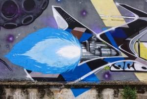 Vesod, Sir2, Pao, Psiko, Guys, Esck, Isma, senza titolo, dettaglio del murale, 2011, Fotografia di Roberto Cortese, 2017 © Archivio Storico della Città di Torino