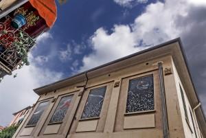Gianni Gianasso, Edosauro, 2011, via Rocciamelone 4, MAU Museo Arte Urbana. Fotografia di Roberto Cortese, 2017 © Archivio Storico della Città di Torino