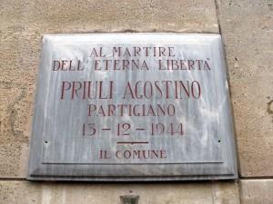 Lapide dedicata a Priuli Agostino (1919 - 1944)