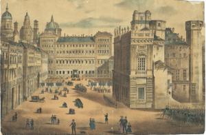 Torino. Piazza Castello, 1850 circa