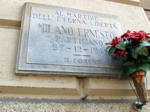 Lapide dedicata a Milano Ernesto (1908 - 1943)