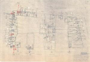 Bombardamenti aerei. Censimento edifici danneggiati o distrutti. ASCT Fondo danni di guerra inv. 2039 cart. 42 fasc. 45. © Archivio Storico della Città di Torino