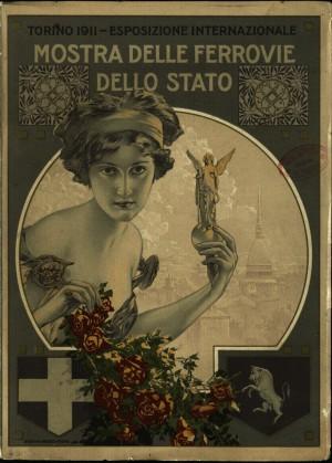Mostra delle Ferrovie dello Stato: Esposizione internazionale, Torino, 1911, copertina