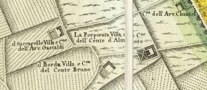 Cascina Porporata. Amedeo Grossi, Carta Corografica dimostrativa del territorio della Città di Torino, 1791, © Archivio Storico della Città di Torino