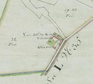 Cascina del Rivore. Mappa primitiva Napoleonica, 1805. © Archivio Storico della Città di Torino