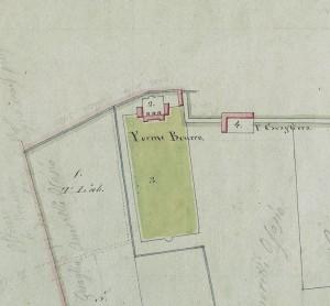 Villa Cristina, già cascina Brucco. Mappa primitiva Napoleonica, 1805, © Archivio Storico della Città di Torino