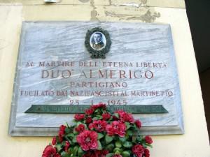 Lapide dedicata ad Amerigo Duò (1923 - 1945)