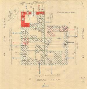 Bombardamenti aerei. Censimento edifici danneggiati o distrutti. ASCT Fondo danni di guerra inv. 847 cart. 17 fasc. 24. © Archivio Storico della Città di Torino