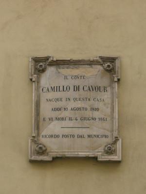 Lapide dedicata a Camillo Benso, conte di Cavour. Fotografia di Elena Francisetti, 2010. © MuseoTorino