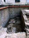 Settore occidentale della cripta romanica di San Salvatore. © Soprintendenza per i Beni Archeologici del Piemonte e del Museo Antichità Egizie