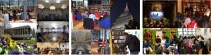 Biblioteche civiche torinesi. Veduta d'insieme di interni ed esterni
