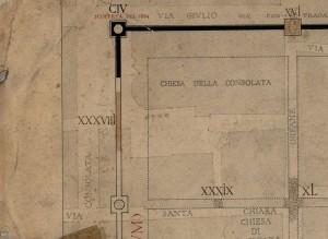 Tratto delle mura della città romana in piazza della Consolata