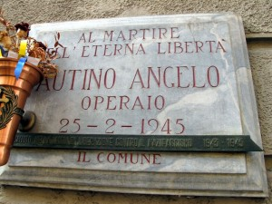 Lapide dedicata ad Angelo Autino (1877 - !945)